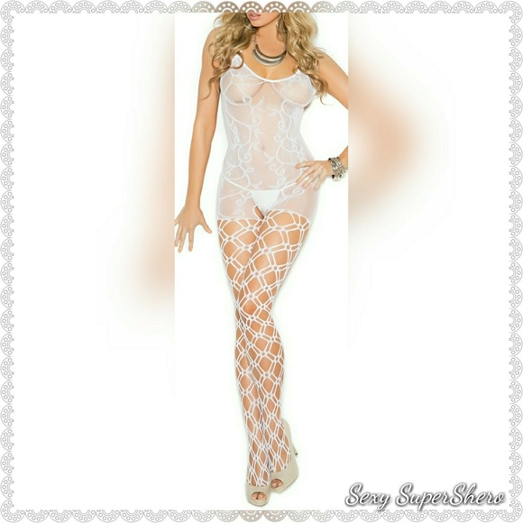 Sexy SuperShero Other - 🆕White Crochet Open Ctch Lingerie Bodystocking